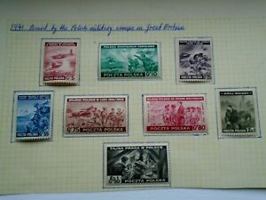 1943 POLAND 'POLISH EXILE GOVT IN GREAT BRITAIN' STAMPS FULL SET
