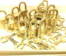 Authentic Louis Vuitton Lock & Key Brass For Speedy Pegase Bag Goldtone