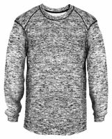Badger Men's Moisture Wicking Polyester Long Sleeve Performance T-Shirt. 4194