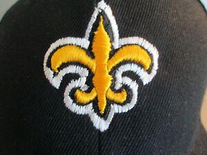 """New Orleans Saints"" Black Cloth Closure Back Hat NWOT One Size Fits Most $19"
