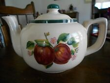 Apple Teapot Coffee Pot(s) 32 oz Casuals China Pearl Stoneware Red Green White !