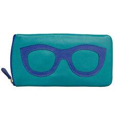 985285f8db82 ILI 6462 Leather Eyeglass Case 19 Colors Aqua cobalt
