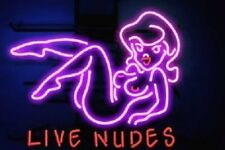 "New Lives Nudes Bar Girl Beers Beer Bar Pub Light Lamp Neon Sign 24""x20"""