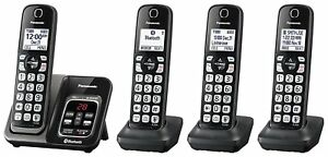 Panasonic KX-TGD564M Bluetooth Cordless Phone with Voice Assist - 4 Handsets