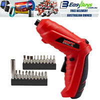 "MPT Cordless Power Drill Driver Screwdriver 1/4"" Hex LED with Battery & Charger"