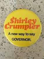 Vintage 1974 Shirley Crumpler for Governor Nevada button Women in Politics