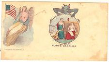 Angel Devil American Flag & North Carolina Civil War Cover ~ Envelope C. Magnus