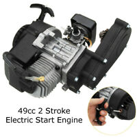 49cc 2-Stroke Engine Motor Electric Pull Start w/ Transmission Mini Moto Quad ~