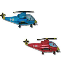 "HELICOPTERS BLUE AND RED Foil Balloons 30"" Super Shape"