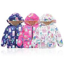 Fashion Baby Kids Boys Girls Coat Winter Warm Hooded Floral Jacket Outwear 2-7Y