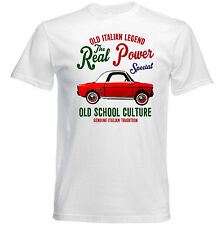 VINTAGE ITALIAN CAR AUTOBIANCHI BIANCHINA SPECIAL-NUOVA T-shirt di cotone