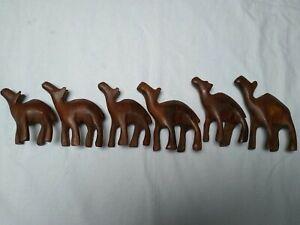 Wooden camel ornaments