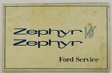 Ford Zephyr V6 Unused Service/Warranty Booklet, Ref No. 73466/466, Printed 1966