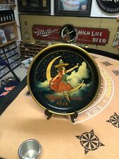 Miller Beer Tray 1930s Rare Girl Moon Clean Advertising Tray High Life Vintage