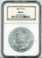 1881 O Morgan Silver Dollar $1 MS 63 NGC