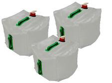 3x Wasserbeutel 20l Faltbar Wasserkanister + Ablasshahn Faltkanister