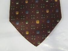Joseph Abboud SILK Tie Necktie 58 x 4 burgundy gold green 14364
