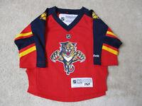 Reebok Florida Panthers Hockey Jersey Size Toddler Infant Red NHL Baby Kids 2f70b4129