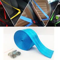3.6M Seat Belt Blue Polyeste Fiber Seat Lap Retractable Car Safety Strap