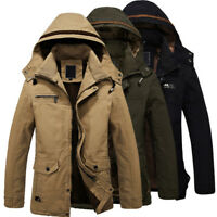 Fashion Mens' Winter Warm Jackets Slim Solid Hooded Coat Outwear Parka