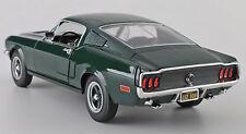 """ERTL Steve McQueen 68 """"BULLITT"""" Mustang-Dk Green1:18 Die Cast (w/Display-No Box)"""