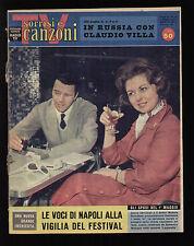 SORRISI 18/1960 FESTIVAL DI NAPOLI CLAUDIO VILLA PAT BOONE BRUNO MARTINO MODUGNO