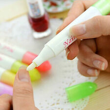 Nail Art Polish Corrector Remover Cleaner Pen with 3 Tips Random Color