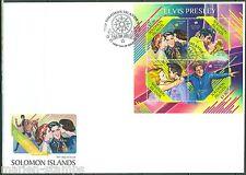 SOLOMON ISLANDS  2013  ELVIS PRESLEY ANN MARGARET & JUDY TYLER SHEET FDC