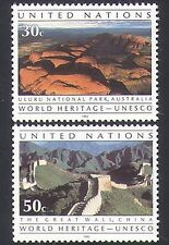 Naciones UNIDAS (NY) 1992 UNESCO/Pared De China/Autobús Parque Nacional/naturaleza 2 V Set (n35840)
