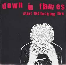 """Down In Flames - Start The F*cking Fire 7"""" EP New Jersey HxC White Vinyl 2002"""