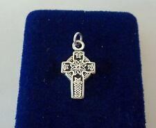 Sterling Silver Small 22x13mm Solid Celtic Cross Pendant Charm