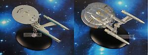 Eaglemoss STAR TREK USS Enterprise NCC 1701 REFIT NX-01 Model Starship Set of 2