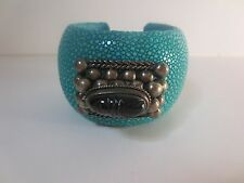 DANNIJO XL Loma Stingray Antique Silver Indian Cuff Bracelet NWOT $450 TURQ