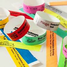More details for custom printed or plain tyvek wristbands paper events festivals party parties