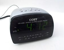 COBY CR-A58 BIG LED Digital AM/FM Alarm Clock Radio-Snooze-Battery Backup