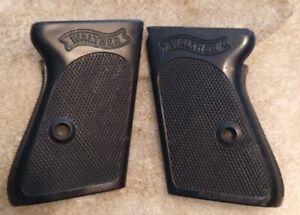 Vintage Walther PPK original black plastic factory grips OEM