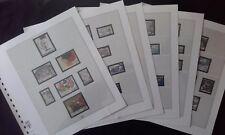 Pages complémentaires de France 1988 LINDNER Occase  6 PAGES sans timbre 134/139