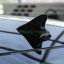 Black Car Trunk Dummy Top Roof Shark Fin Antenna Aerial Decorative Decal Sticker