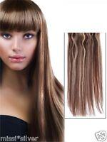 DELUXE Zwei Farben FLIP in Haarverlängerung Gummiband Extensions*60CM