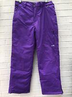 NEW WOMENS SKI SNOWBOARD Trousers Size 12 Purple Waterproof Gaiters Arctic Star