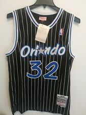 NWT Mens Mitchell & Ness #32 Shaquille O'neal Orlando Magic Swingman Jersey L
