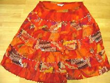 Shelly & Arnold  India Hippie BOHO Peasant Multi colored Skirt M Medium