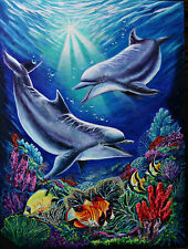Dolphins, Oil painting,original art on canvas