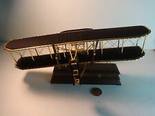 Franklin Mint Gold Wright Flyer Kitty Hawk Airplane w/ stand