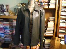 Banana Republic genuine leather gray jacket coat size Large