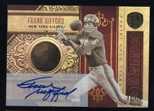 2011 GOLD STANDARD GOLDEN AGE 14K GOLD AUTO FRANK GIFFORD 10/10 NY GIANTS