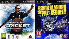 international cricket 2010 & borderlands the pre sequel  NEW&SEALED ps3  pal