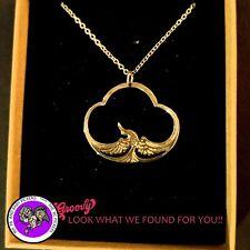 """""""JJ"""" Jonette Jewelry  gold Pewter 'Ancient Egyptian Nekhbet Goddess necklace '"""