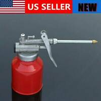 250ml Oil Can Die Cast Head Body With Rigid Spout Thumb Pump Workshop Oiler