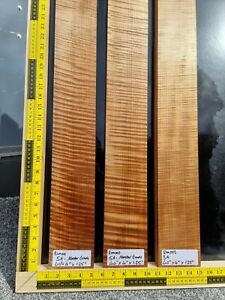 5A Roasted Maple Guitar Bass Neck Blank Guitar Building Luthier